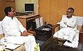 The Chief Minister of Madhya Pradesh, Shri Shivraj Singh Chouhan meeting the Union Minister for Rural Development and Panchayati Raj, Dr. C.P. Joshi, in New Delhi on July 15, 2010.jpg