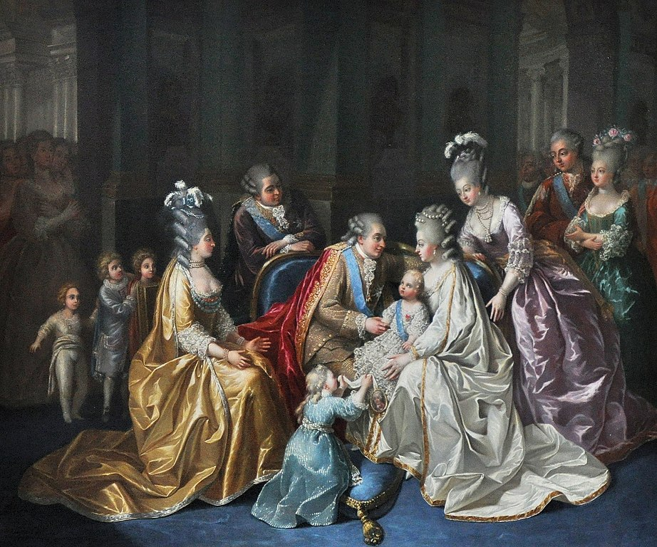 File the french royal family in 1782 anonymous artist for Autour de versailles