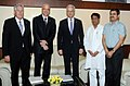 The German Minister for Transport, Building & Urban Development, Dr. Peter Ramsauer along with a delegation meeting the Union Minister for Civil Aviation, Shri Ajit Singh, in New Delhi on April 10, 2012.jpg