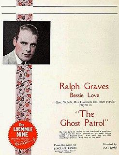 <i>The Ghost Patrol</i> 1923 silent film by Nat Ross