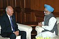 The Minister-Mentor of the Republic of Singapore, Mr. Lee Kuan Yew calls on the Prime Minister, Dr. Manmohan Singh in New Delhi on November 02, 2007.jpg
