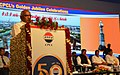 The Minister of State for Road Transport & Highways and Shipping, Shri P. Radhakrishnan addressing the gathering on the occasion of the Golden Jubilee Celebrations of Chennai Petroleum Corporation Limited, in Manali, Chennai.jpg