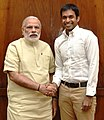 The National Coach, Indian Badminton Team, Shri Pullela Gopichand calls on the Prime Minister, Shri Narendra Modi, in New Delhi on May 02, 2016.jpg