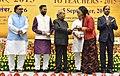 The President, Shri Pranab Mukherjee presenting the National Award for Teachers-2015 to Miss Chumzay Nangpa (Sikkim), on the occasion of the 'Teachers Day', in New Delhi.jpg