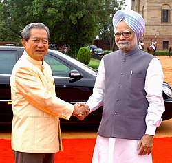 The Prime Minister, Dr. Manmohan Singh at the ceremonial reception for the visiting Prime Minister of the Kingdom of Thailand, Mr. General Surayud Chulanont, in New Delhi on June 26, 2007