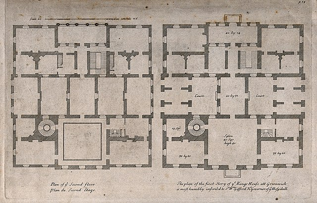 File The Queens House Greenwich Plans Of The Ground And