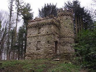 Badminton House - The Ragged Castle, a folly on the Badminton estate.