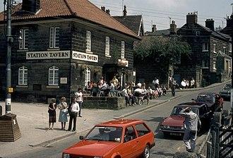 """Grosmont, North Yorkshire - """"Railway Tavern"""", former 'Tunnel Inn', Grosmont village (1982)"""