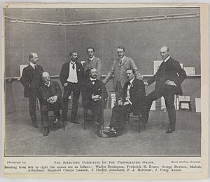 Walter Benington - The Selecting Committee of the Photographic Salon of the Linked Ring. Benington on the far left.