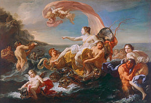 Corrado Giaquinto - Corrado Giaquinto, Triumph of Galatea, circa 1752