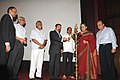"""The Union Minister for Information and Broadcasting, Smt. Ambika Soni lighting the lamp to inaugurate a """"Retrospective of Kamal Hassan Films"""", organised by the Directorate of Film Festival, in New Delhi on July 02, 2010.jpg"""