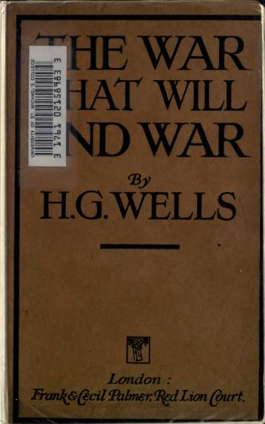 File:The War That Will End War - Wells.djvu