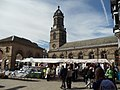 The Wednesday market outside St Giless Church and the Buttercross, Pontefract (geograph 2344838).jpg