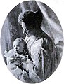 The ex-empress Alexandra Feodorovna of Russia with the ex-tzarevitch Alexis (A).jpg