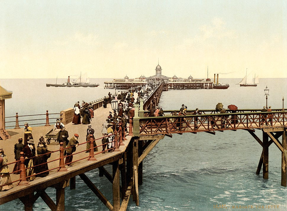 The jetty, Margate, Kent, England, ca. 1897