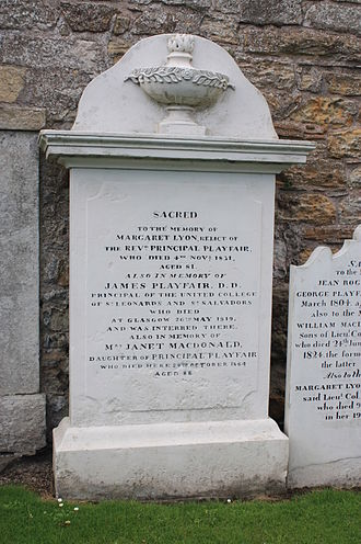 James Playfair (minister) - The memorial to Rev James Playfair, St Andrews Cathedral churchyard
