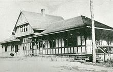 The old C.P.R. Station in Schreiber, circa 1884.