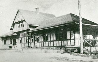 Schreiber, Ontario - The old C.P.R. Station in Schreiber, circa 1884.