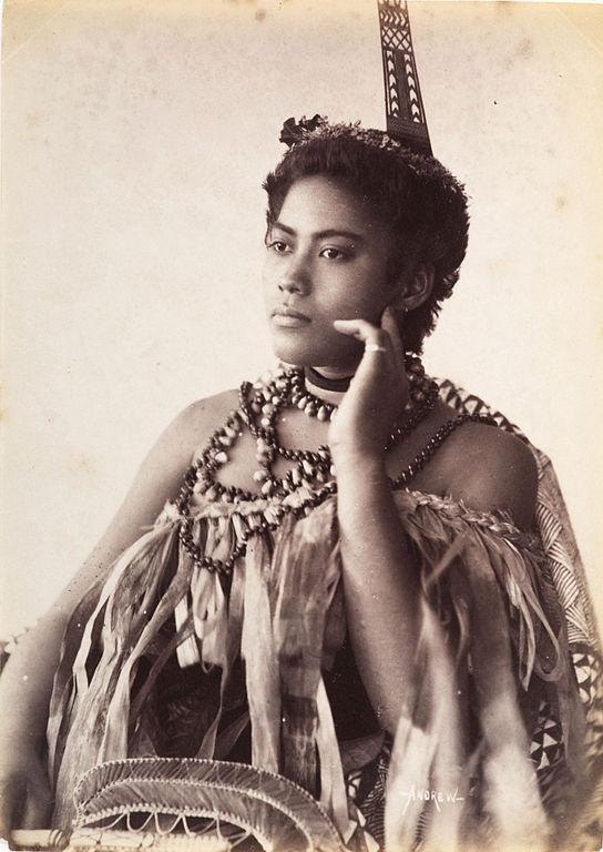 Filethinking Woman, Portrait Of An Unidentified Samoan -6402