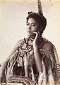 Thinking Woman, portrait of an unidentified Samoan woman wearing a cloak type garment.jpg