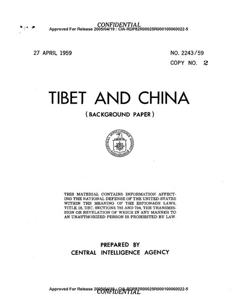 File:Tibet MAP dated 27 April 1959---from Tibet and China Background Paper- No. 2243-59, prepared by the Central Intelligence Agency, approved for release 2005-04-19 by the CIA-----CIA-RDP82R00025R000100060022-5.pdf