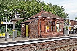 Hall Road railway station - Image: Ticket Office, Hall Road Railway Station (geograph 2994487)