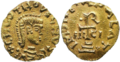 Tiers de sous d'or de Clovis II.png