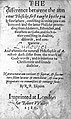 Title page of The difference between the ancient physicke... Wellcome L0001060.jpg