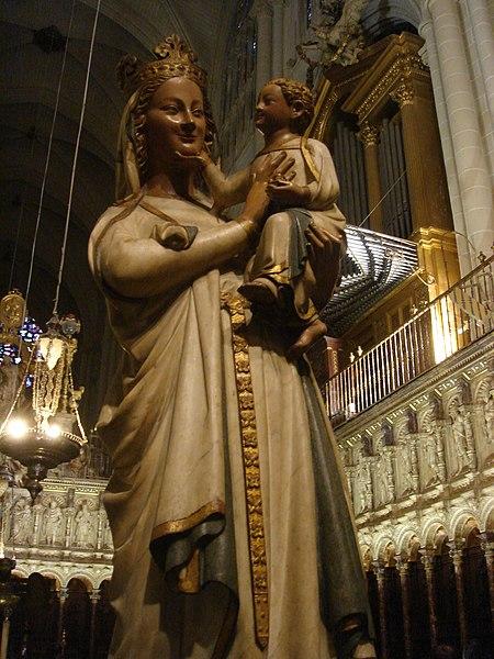 Archivo:Toledo Virgen Coro.jpg