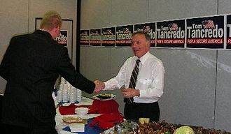 Tom Tancredo 2008 presidential campaign - Tancredo raising funds at a Lincoln Day Dinner on April 14