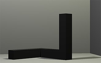 Minimalism (visual arts) - Tony Smith, Free Ride, 1962, 6'8 x 6'8 x 6'8, Museum of Modern Art (New York City)