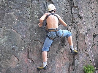 Top rope climbing - Image: Top roping in black forest 5