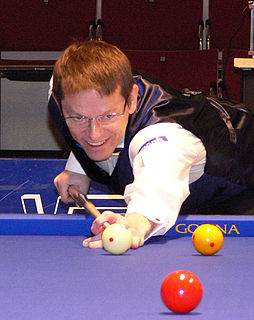 Torbjörn Blomdahl Swedish billiards player