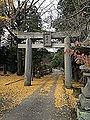 Torii on sando of Arashiyama Taki Shrine.jpg