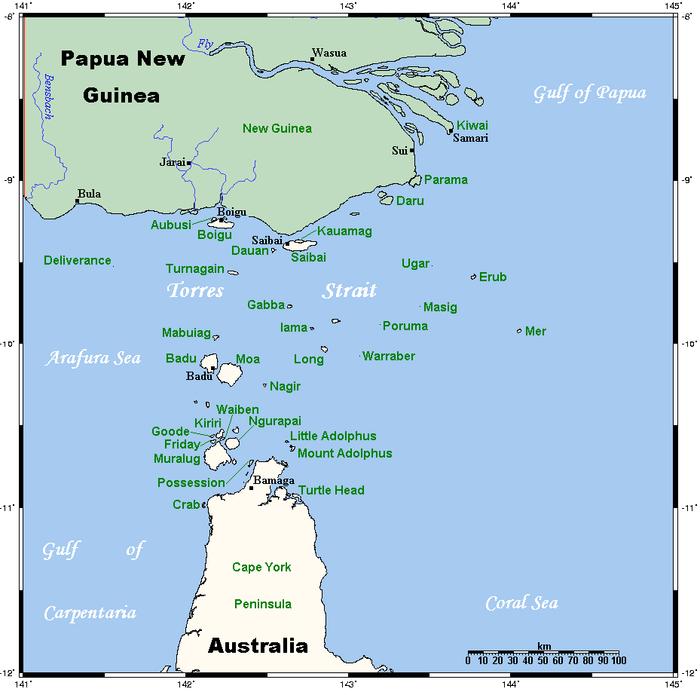 Torres Strait Islands Map Torres Strait And Islands