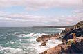 Torridon sandstone meets the ocean. - geograph.org.uk - 352279.jpg