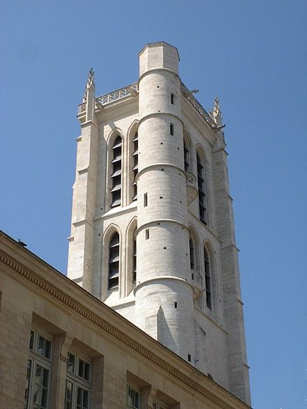 The modern-day Tour Clovis, the tower Dulong climbed to conduct his experiments on steam. Tour clovis h4.jpg