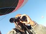 Tourist Rudolph.A.Furtado observing the Earth below over Cappadocia..JPG