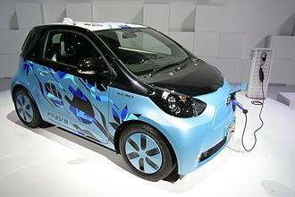 Toyota iQ - The Toyota eQ/Scion iQ EV is based on Toyota's three generations of FT-EV concept. Shown the Toyota FT-EV III concept car at the 2011 Tokyo Motor Show.