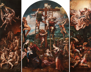 Triptych of the Descent from the Cross (Pieter Coecke van Aelst)