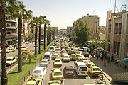 Traffic at Damascus streets