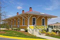 Historic train station in Morganton
