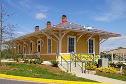 Historic train station in Morganton