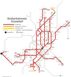 Trams In Düsseldorf Wikipedia - Dusseldorf metro map