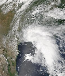 Tempête tropicale Allison, le 5 juin 2001 à 17:15 UTC, à son intensité maximale