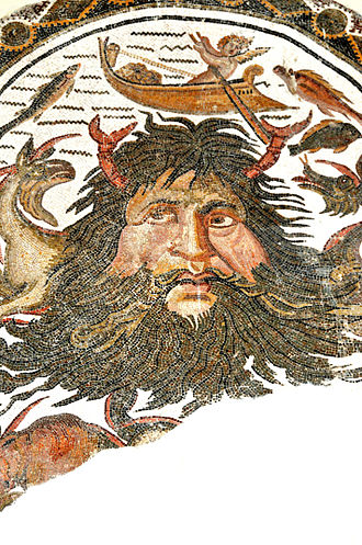 Pontus (mythology) - Pontus in an ancient Roman mosaic, Tunisia