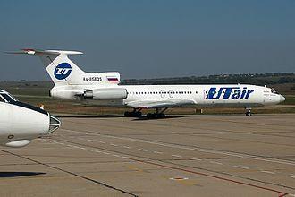 Anapa Airport - UTair Tupolev Tu-154M taxiing Anapa Airport.