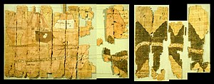 Turin Papyrus Map - Left half of the Turin papyrus map, courtesy J. Harrell