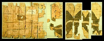 Left half of the Turin papyrus map, courtesy J. Harrell