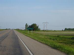 Saskatchewan Highway 2 - Tuxford signage